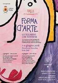 Forma d'Arte 2018, volantino - Formazione Professionale Fondazione IREA
