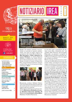 Notiziario IREA n. 31, luglio 2016 - Fondazione IREA