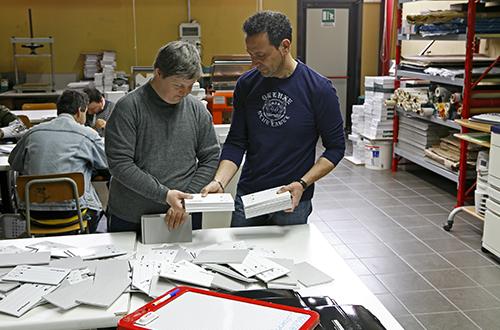 disabilità laboratorio di cartotecnica