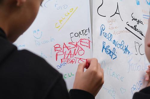 progetto 4h - scritte dei ragazzi come sarà il tuo futuro