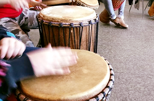 4h progetto - laboratorio Drum Circle