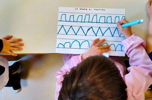 scuola infanzia s.m. grazie attività di pregrafismo